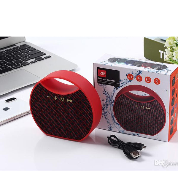J25 Wireless Portable Speaker High-end Quality Fabric Subwoofers J25 Music Player Outdoor Speaker with TF Card Line In and U disk Function