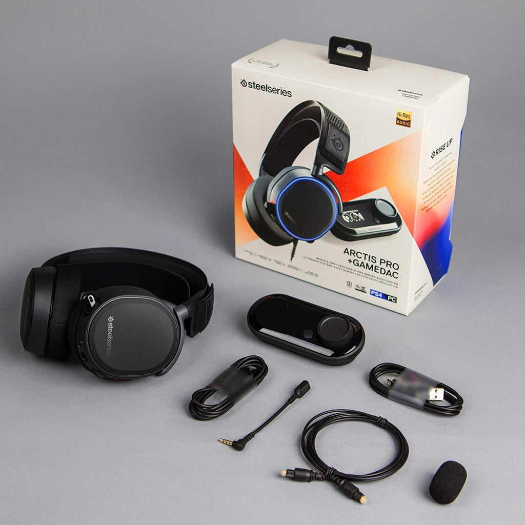 b947af5e647 SteelSeries Arctis Pro + GameDAC Gaming Headset - Certified Hi-Res Audio  System for PS4