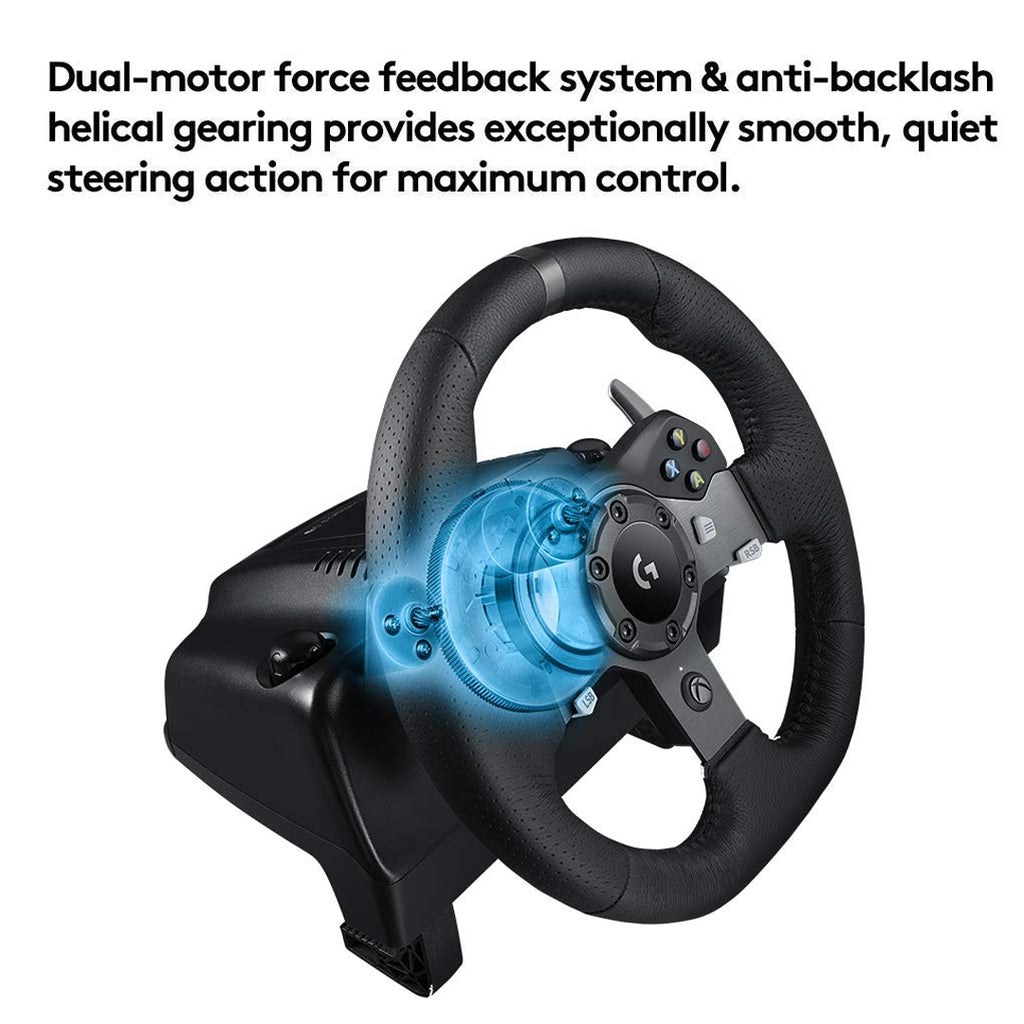9136f6bbd7d Logitech G920 Dual-Motor Feedback Driving Force Racing Wheel with  Responsive Pedals for Xbox One