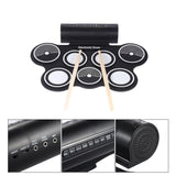 Portable Roll Up USB MIDI Electronic Drum Pad
