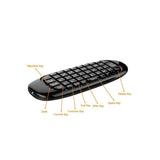 Fly Air Mouse 2.4GHz Wireless Remote Control with 3D Gyro Motion Gyroscope Mini Keyboard For PC Android TV Box XBMC