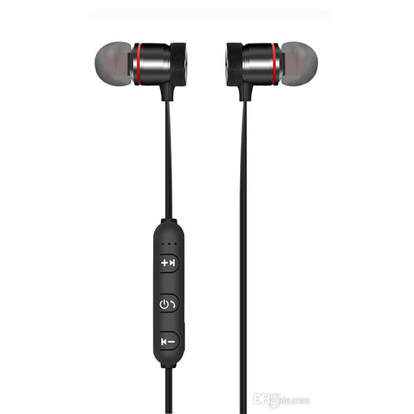 XT-6 Metal Sports Bluetooth Headphone SweatProof Earphone Magnetic Earpiece Stereo Wireless Headset for Mobile Phone
