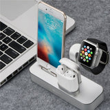 3 in 1 for iWatch Aluminum Desktop Displaying Holder, Docking Station for Apple iPhone XS Max 6.5/XR 6.1/X/8