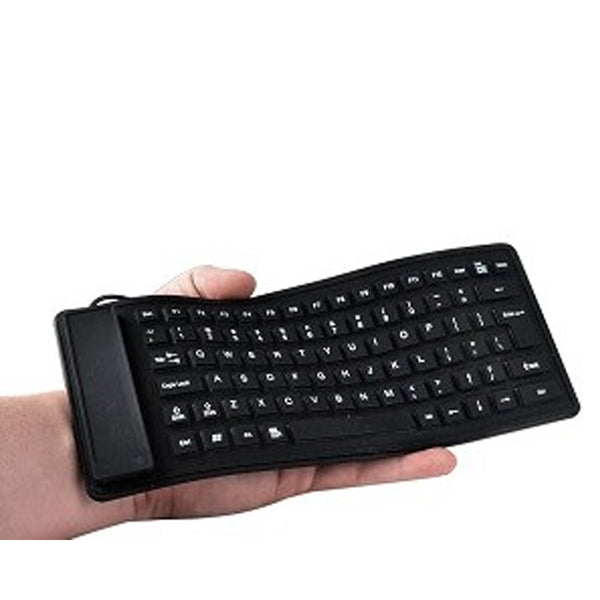 Keyboard Mini Flexible Roll-Up KeyboardFor One or Two hands
