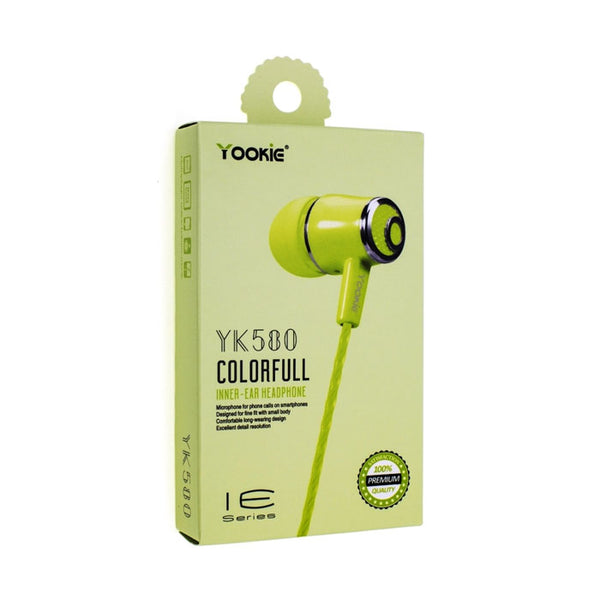 Yookie Colorful Inner-Ear Earphone YK580 & Yk-570