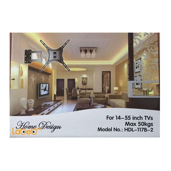 HDL-117B-2 Curved TV Bracket for Flat and Curved TV's