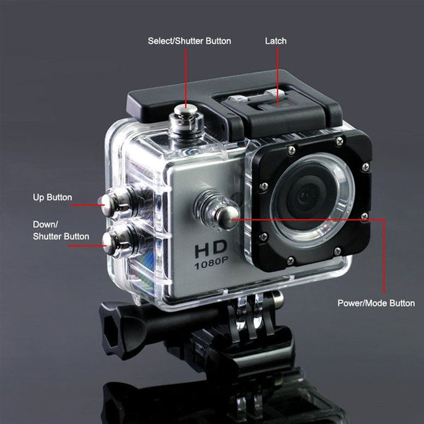 Action Camera 1080P HD 30M Waterproof sport Camrecorder