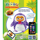 Hibou Smart Electronic Pet Owl Interact with Tablet or Smartphone Repeat Talking Singing and Dancing Animal Plush Toys for Kids