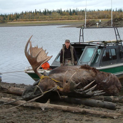 Hunting - Pulling a Moose