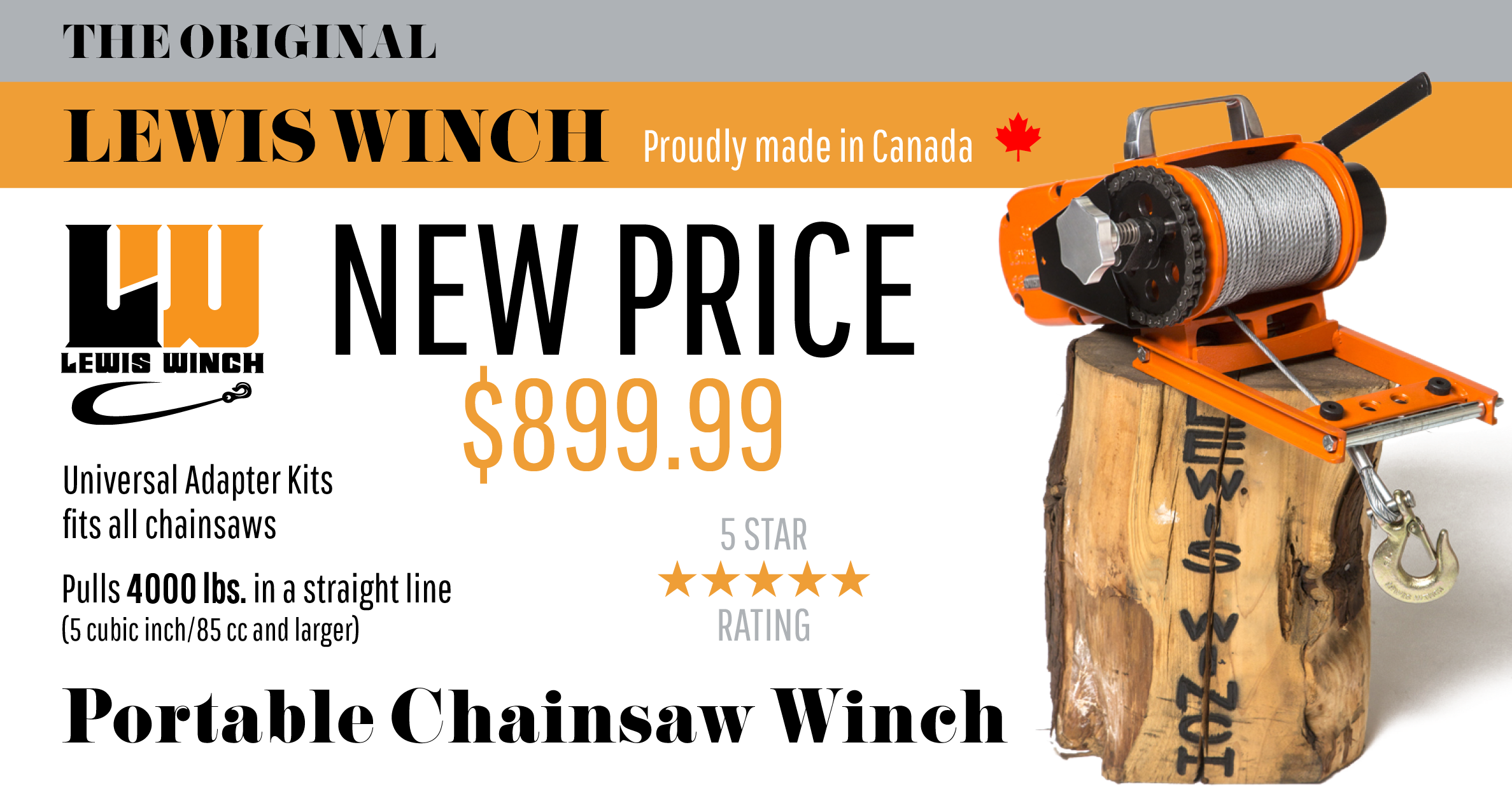 New Lewis Winch Price