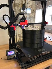 3D Printout of first Large Cylinder for Create A Castle