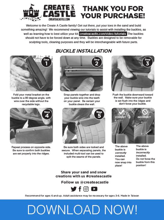 Create A Castle Instruction Sheet
