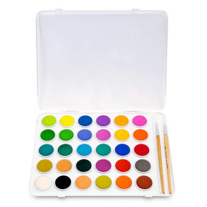Palette d'aquarelle 30 couleurs et papier  - Kid Made Modern