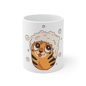 Open image in slideshow, Tiger Bath Mug on white background.