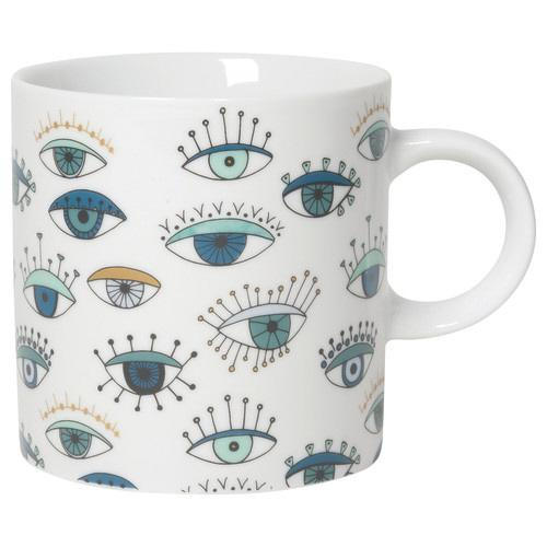 Front view of All Seeing Eye Mug on white background.