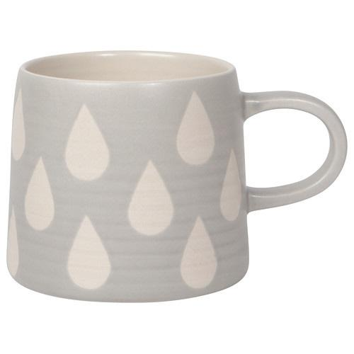 Front view of Tear Drop Mug on white background.