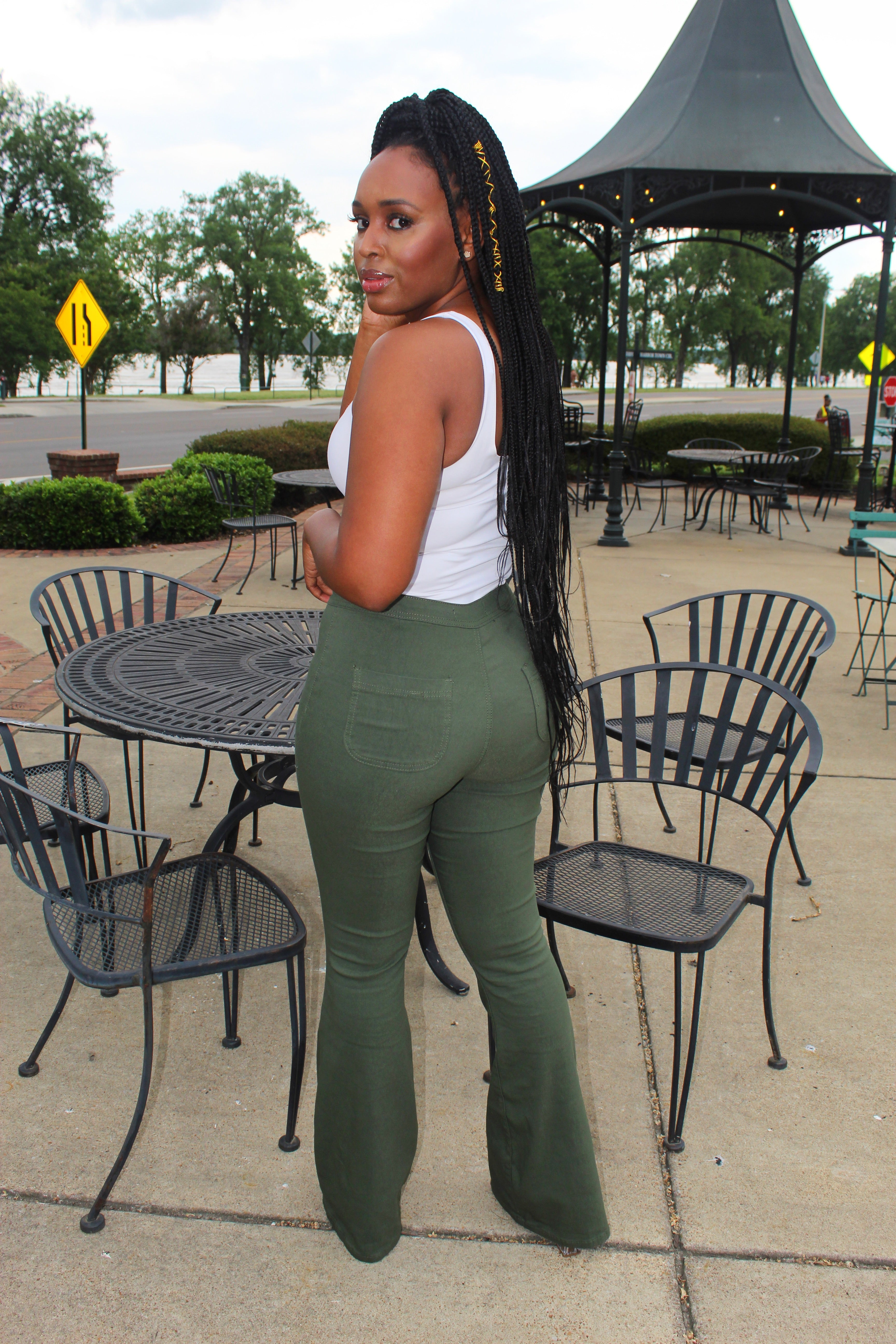 The Perfect Fit Flare Pants - Olive