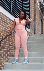 Blush Corset Leggings Set