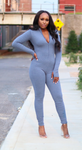 Get Me Bodied Jumpsuit- Denim