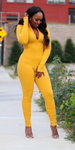 Get Me Bodied Jumpsuit - Mustard