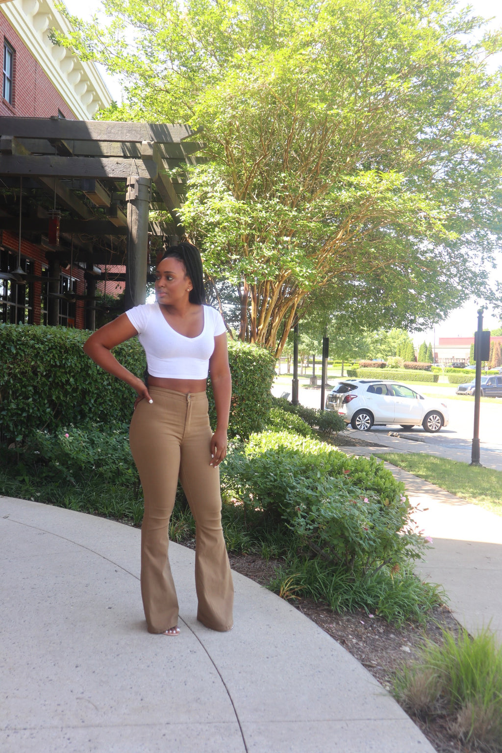 The Perfect Fit Flare Pants - Mocha
