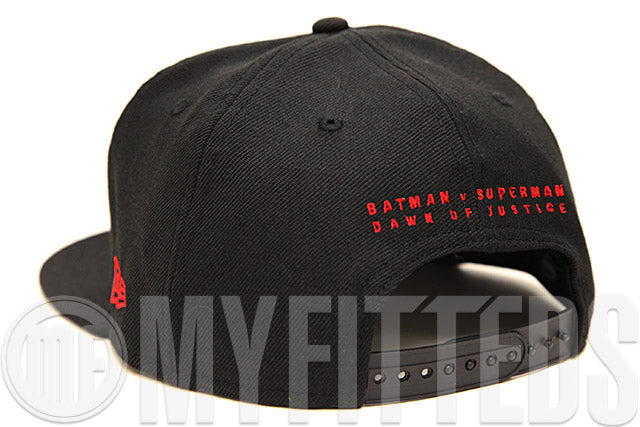 Batman VS Superman Dawn of Justice Jet Black Garnet Fire Carbon Graphite Custom New Era Snapback