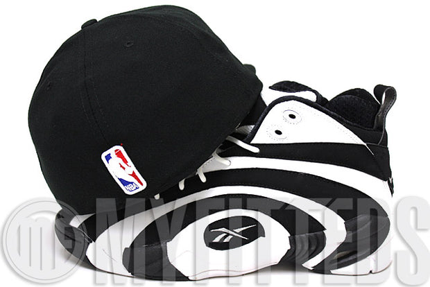 Brooklyn Nets Jet Black Glacial White Official Team Color NBA New Era Fitted Hat