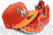 Miami Marlins Persimmon Sunburst Orange PW HUMAN RACE NMD TR New Era Fitted Hat