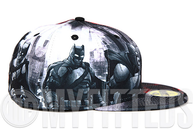 "Batman VS Superman ""Dawn of Justice"" Movie Inspired Sublimated Graphics All Over New Era Fitted Cap"