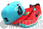 Miami Heat Trace Filament Scarlet Liverpoool Lebron 9 New Era Hat