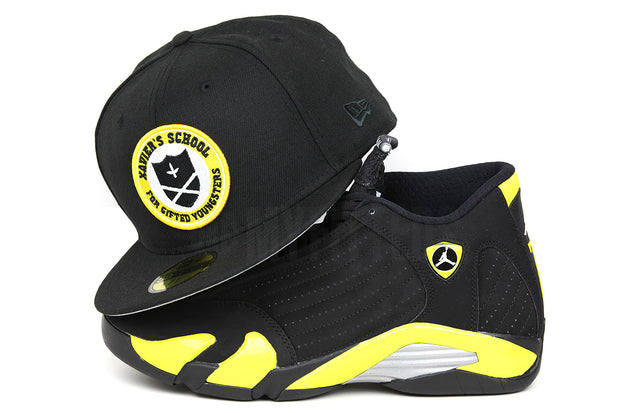 X-MEN Xavier's School For Gifted Youngsters Jet Black Argent Gold Mutatis Mutandis New Era Hat