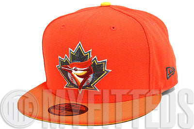 Toronto Blue Jays Orangeade Solar Outburst Gunmetal Forging Iron Lebron 11 New Era Fitted Hat