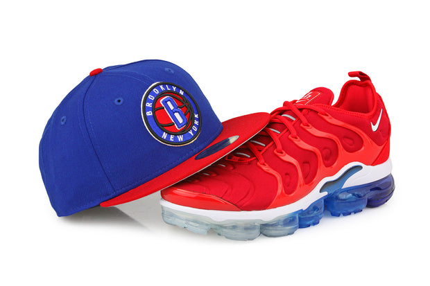 "BROOKLYN NETS AIR VAPORMAX PLUS ""FIRECRACKER"" NEW ERA FITTED CAP"