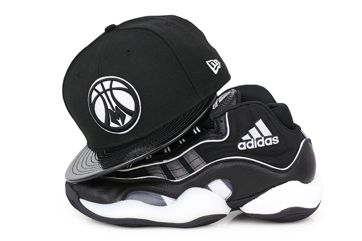 MILWAUKEE BUCKS FAUX PATENT ADIDAS CRAZY 98 X BYW NEW ERA 59FIFTY FITTED CAP