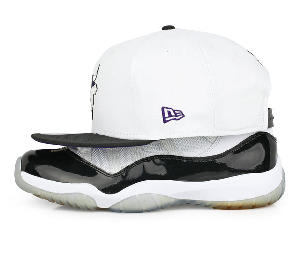"CHICAGO BULLS AIR JORDAN XI ""CONCORD"" MATCHING NEW ERA SNAPBACK HAT"