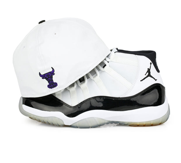 "CHICAGO BULLS AIR JORDAN XI ""CONCORD"" MATCHING NEW ERA FITTED CAP"