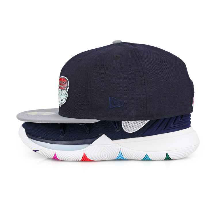 "TAMPA BAY DEVIL RAYS NIKE KYRIE V ""MULTI-COLOR"" MATCHING NEW ERA FITTED CAP"