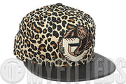 Vancouver Grizzlies Leopard Black Faux Leather Visor Metallic Copper New Era Hat