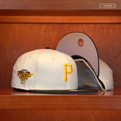 "PITTSBURGH PIRATES 2006 ALL-STAR GAME ""OFF-WHITE"" NEW ERA FITTED CAP"