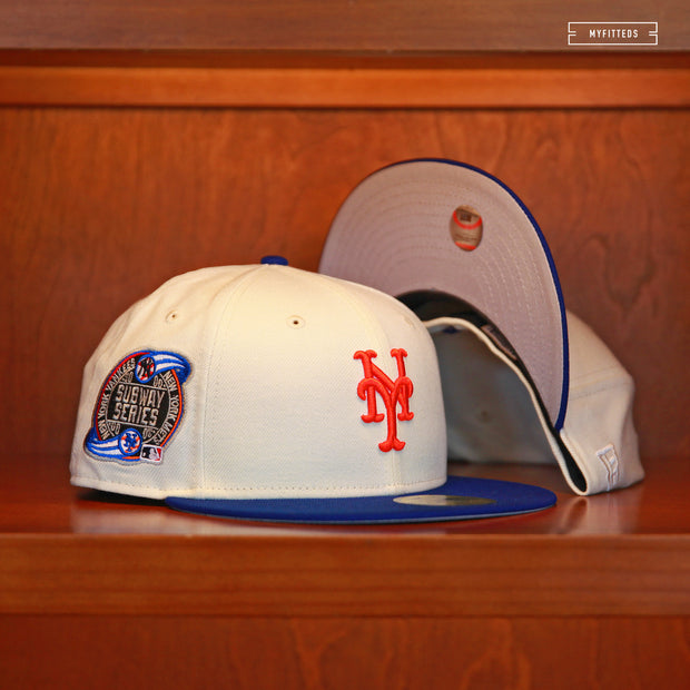 "NEW YORK METS 2000 WORLD SERIES SUBWAY SERIES ""OFF-WHITE"" NEW ERA HAT"