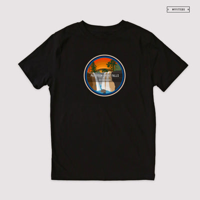 "PATERSON GREAT FALLS ""WISH YOU WERE HERE"" NPS QS T-SHIRT"