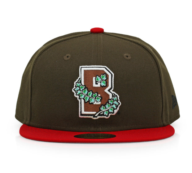 BROWN UNIVERSITY BEARS IVY LEAGUE MAHOGANY / SCARLET OTC NEW ERA HAT