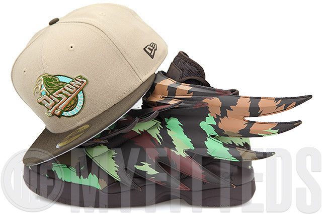 Detroit Pistons Steel Cut Oatmeal Mahogany Ocean Breeze Jeremy Scott Wings 3.0 New Era Hat