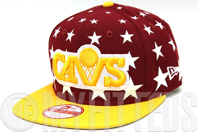 Cleveland Cavaliers Starry Cap Russet Sunset Argent Gold New Era Original Fit Snapback Hat