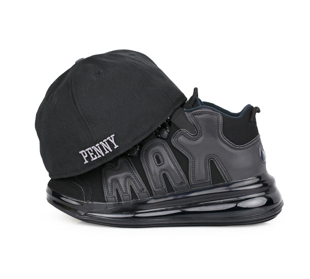 PENNY 1¢ ONE CENT REFLECTIVE AIR MORE UPTEMPO 720 QS 1 MATCHING NEW ERA FITTED CAP