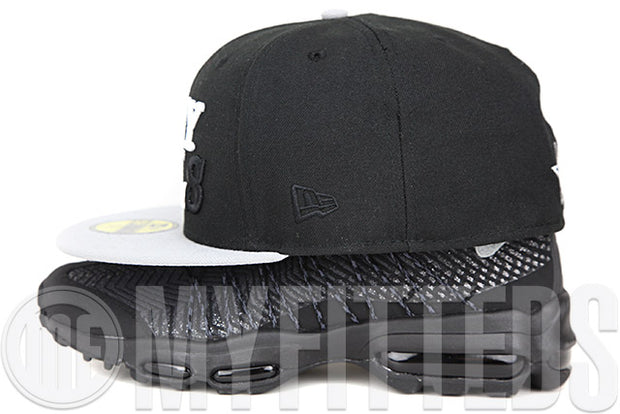 I Love My Girls Jet Black Placid Grey Metallic Black Pearl Air Max 95 Ultra Matching New Era Hat
