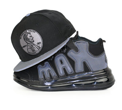 PENNY 1¢ ONE CENT REFLECTIVE AIR MORE UPTEMPO 720 QS 1 NEW ERA SNAPBACK HAT