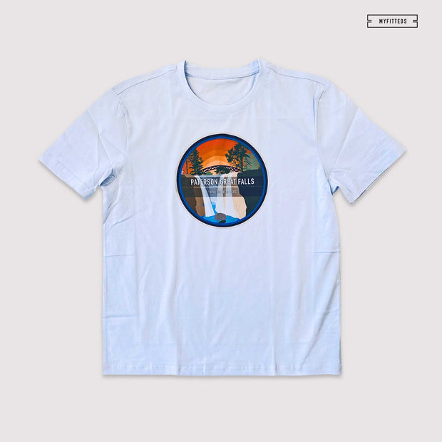 "PATERSON GREAT FALLS ""WISH YOU WERE HERE"" NPS QS ICE WHITE T-SHIRT"