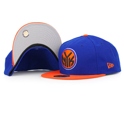 NEW YORK KNICKS MADE IN USA PRIMARY 2 TONE NEW ERA FITTED CAP