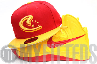 China Sunrise Red Autumn Gold 2012 Olympic New Era Fitted Hat